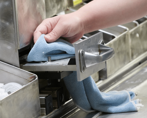 hitech final finish towel used to wipe down manufacturing parts