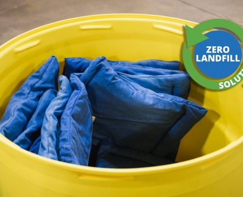 oil absorbent spill kit with Zero Waste Logo