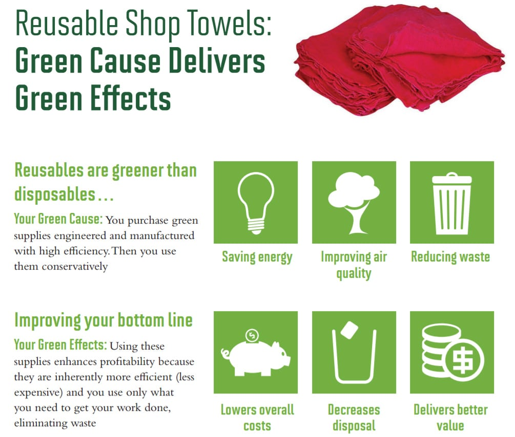 Reusable Shop Towels are Better for the Environment