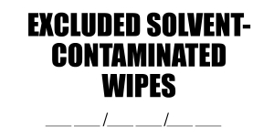 Wipes 2x4 with Date