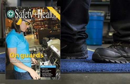 slipbusters oil absorbent floor mat featured in safety health magazine