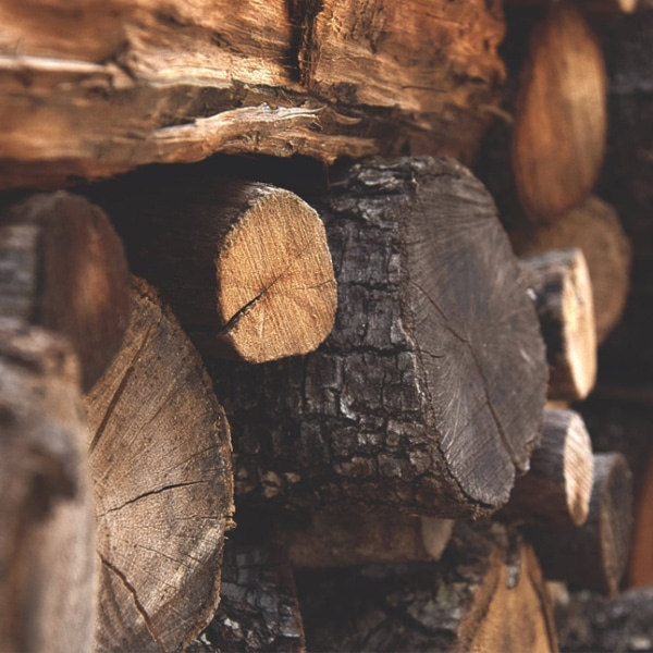 stack of logs wood