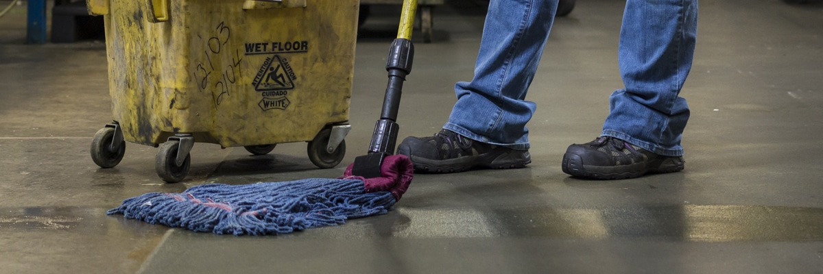mop cleaning a floor